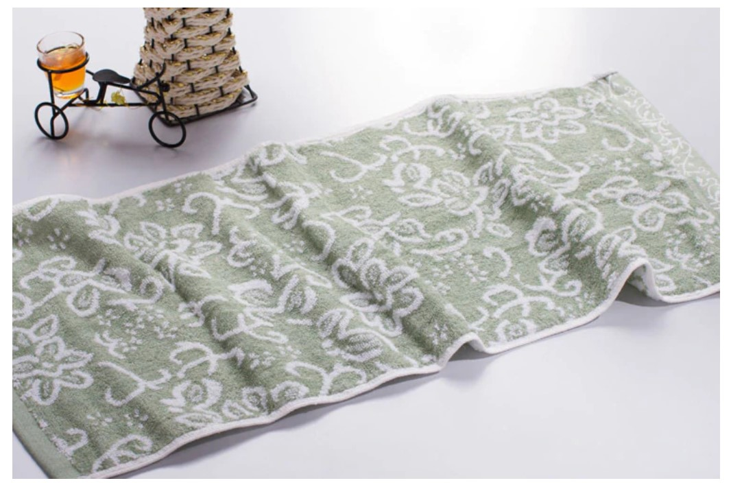 Floral Print Face Towel
