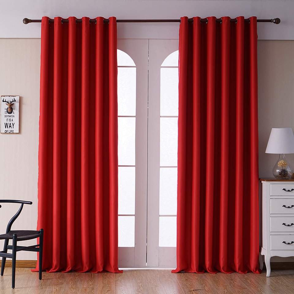 Modern Plain Curtains for Living Room