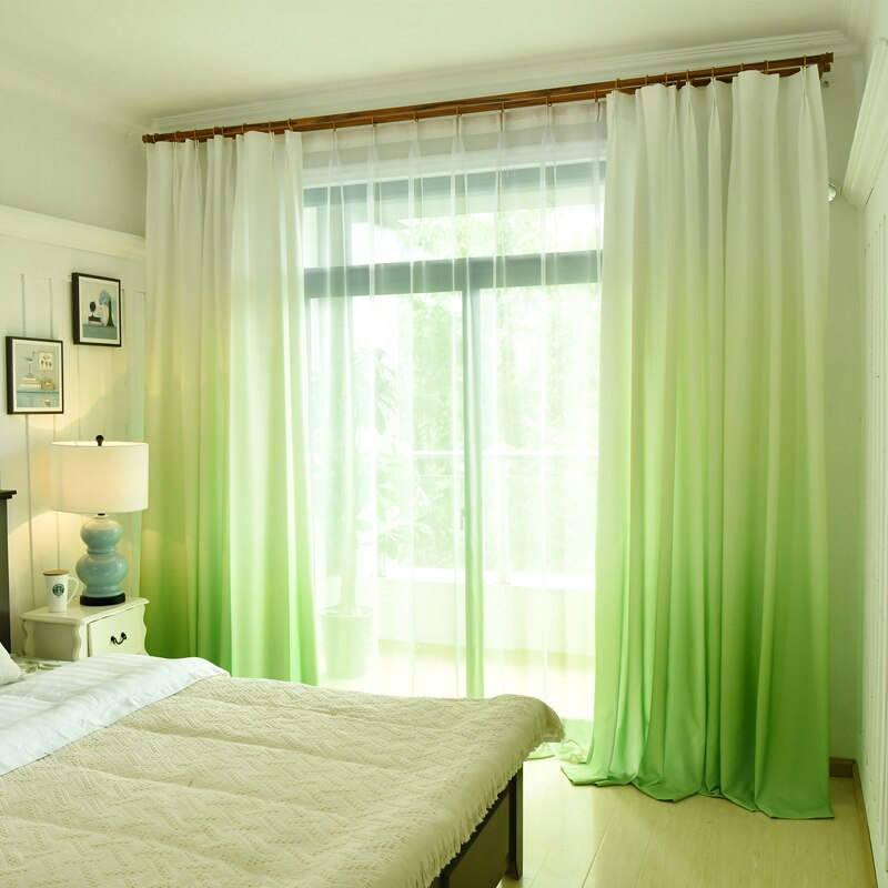 Gradient Colored Window Curtain