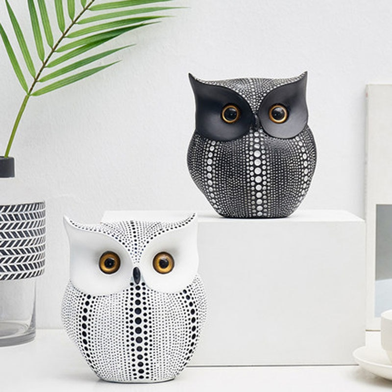 Nordic Owl Shaped Figurine