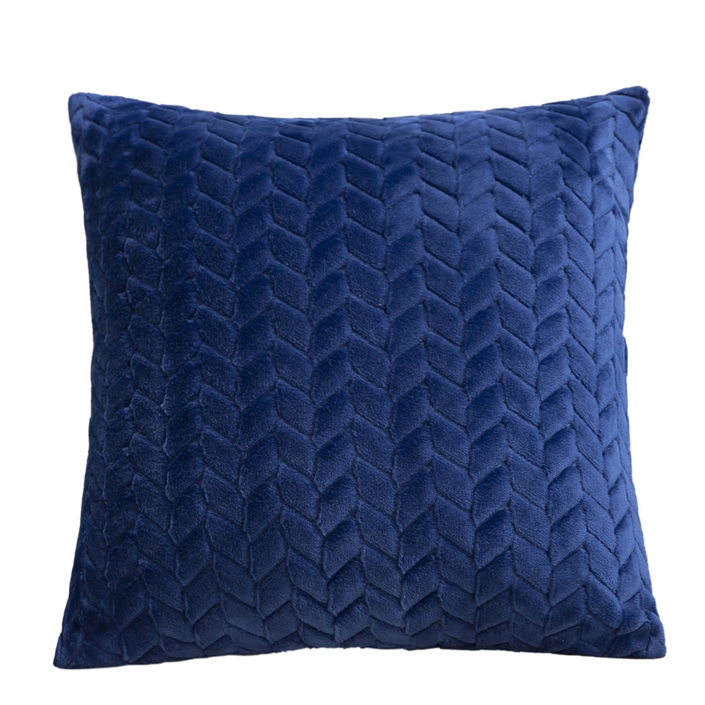 Knitted Texture Plush Cushion Cover