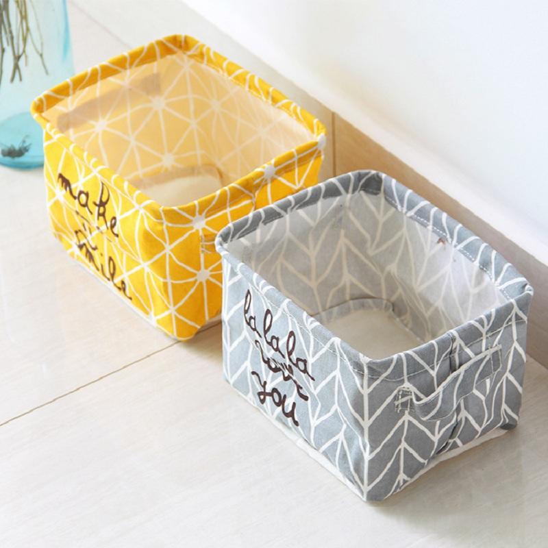 Nordic Style Linen Desk Storage Box