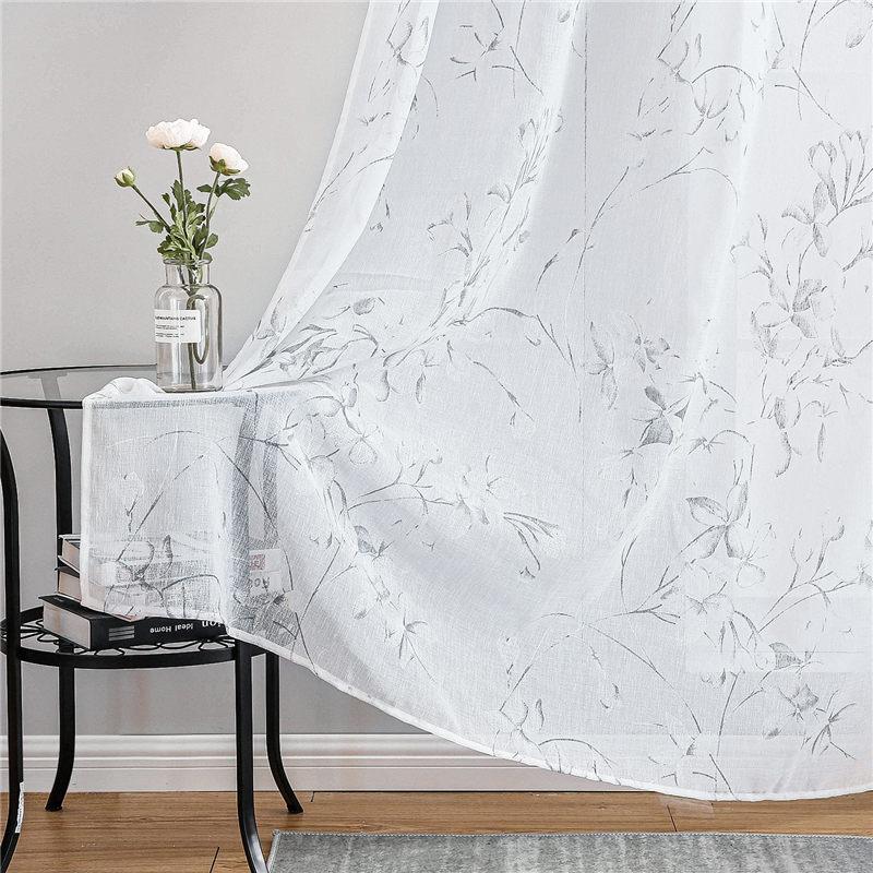 Elegant Floral Printed Curtain