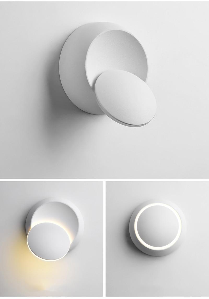 Unique Rotating Design Aluminum Wall Lamp