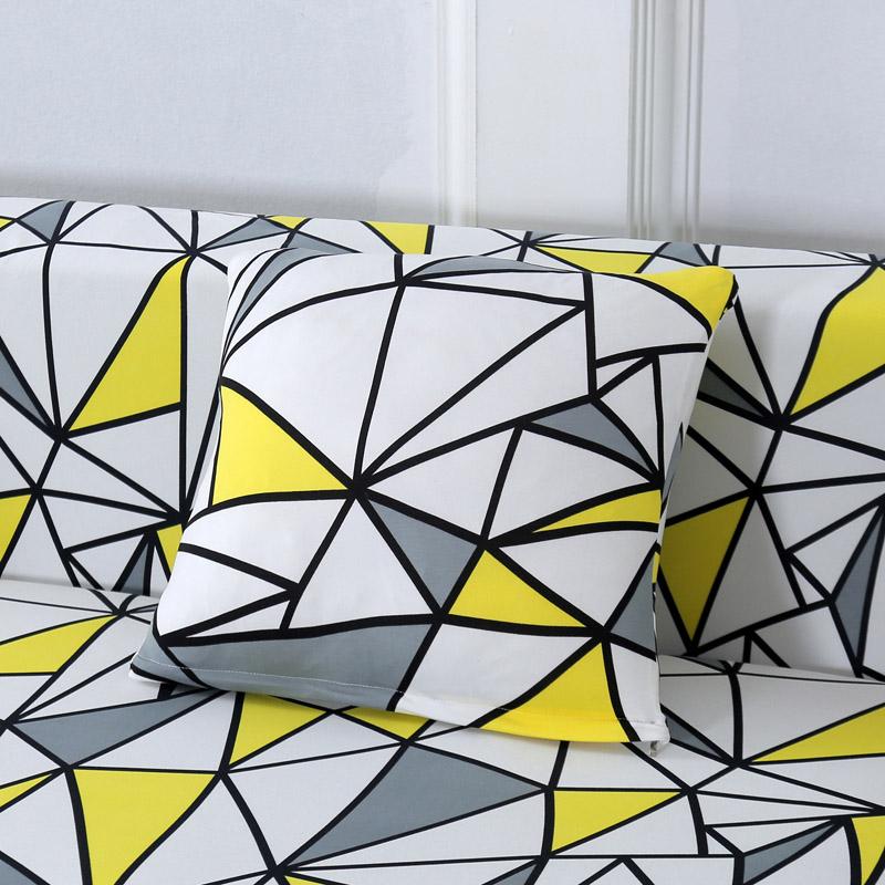 Abstract Printed Pillow Case Set 4 pcs
