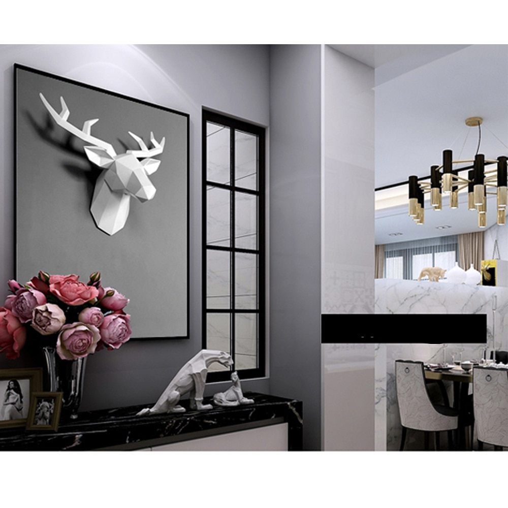 3D Deer Head Sculpture for Home Decoration
