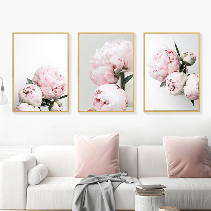 Peony Flowers Printed Painting