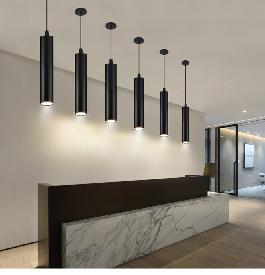 Modern Round Aluminum LED Pendant Light