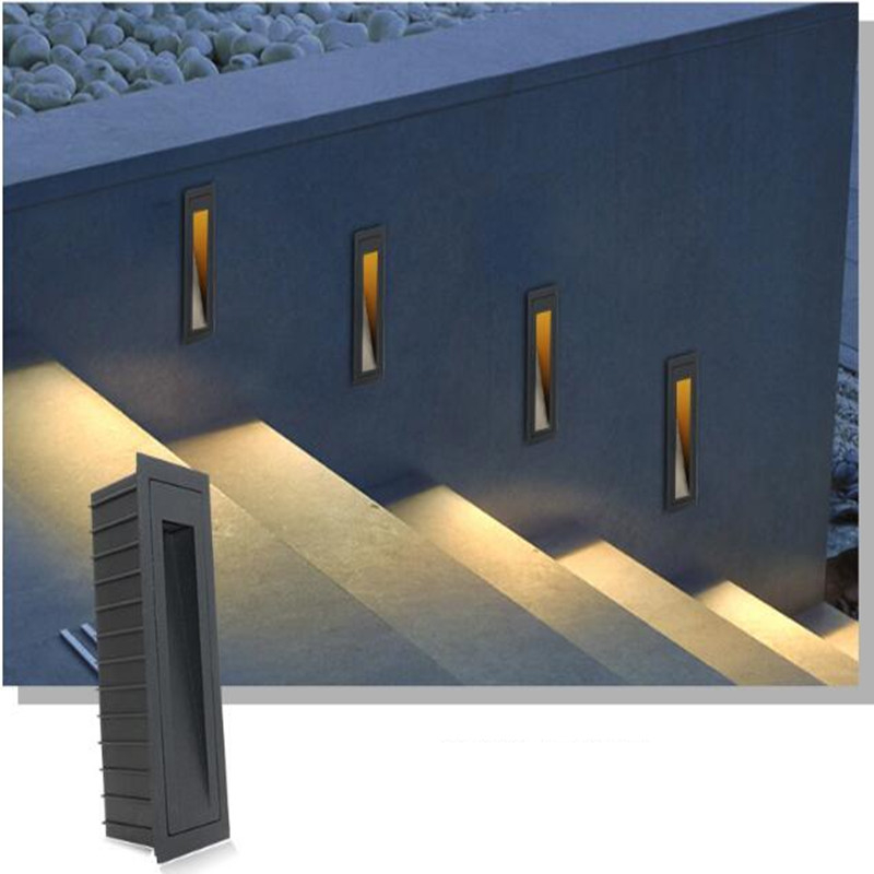 Outdoor Modern Square Aluminum Wall Lamp