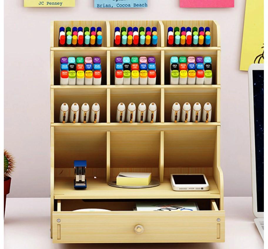 Solid Wood Desk Organizer