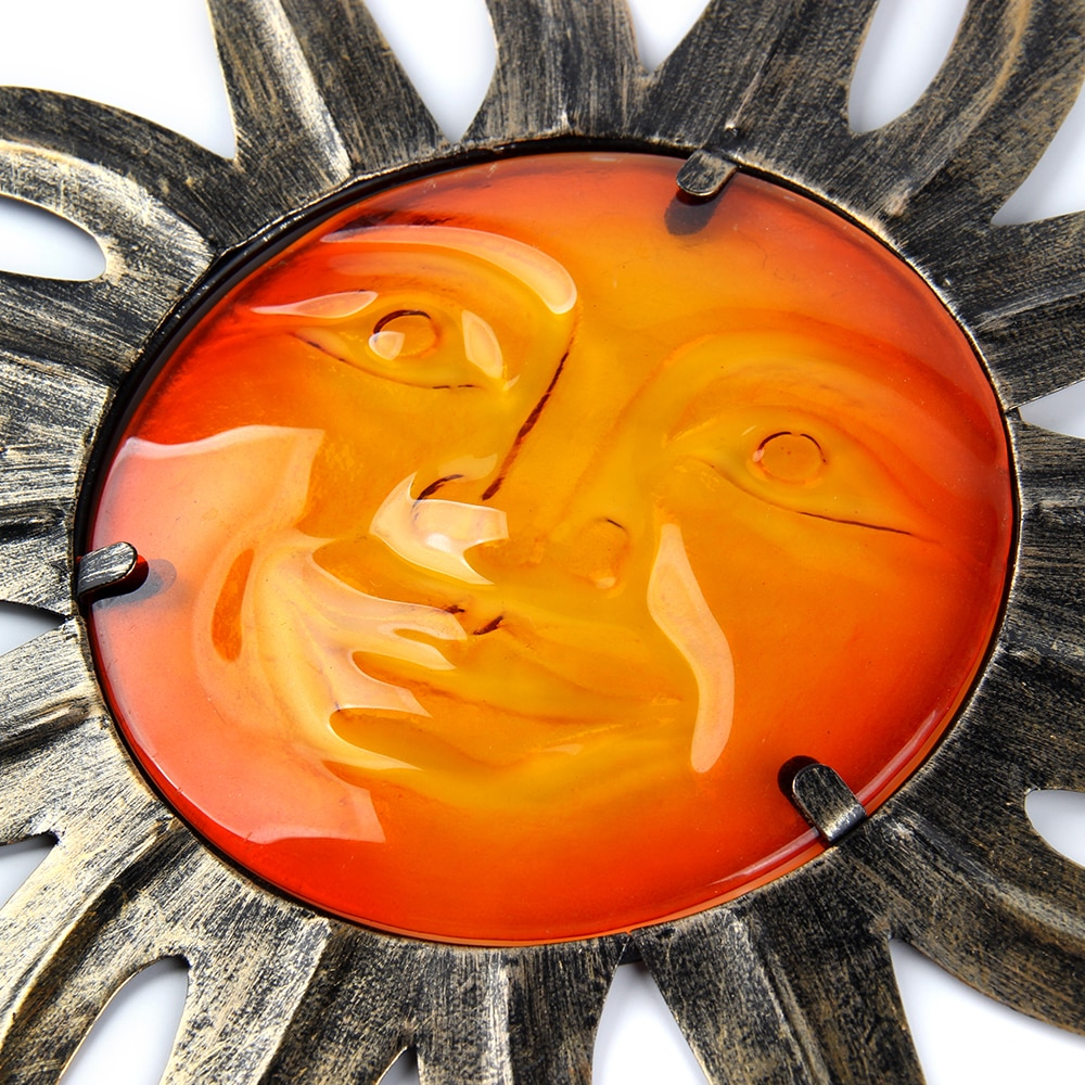 Garden Metal Sun Shaped Statue