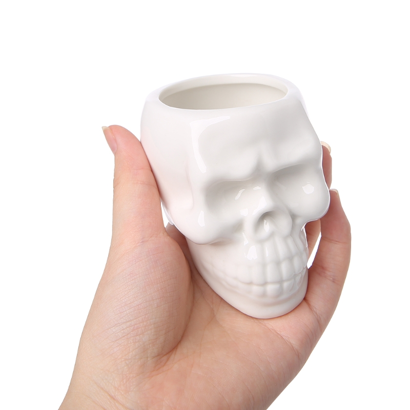 Skull Shaped Ceramic Flower Pot