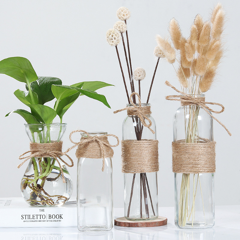 Creative Nordic Glass Bottle Vase