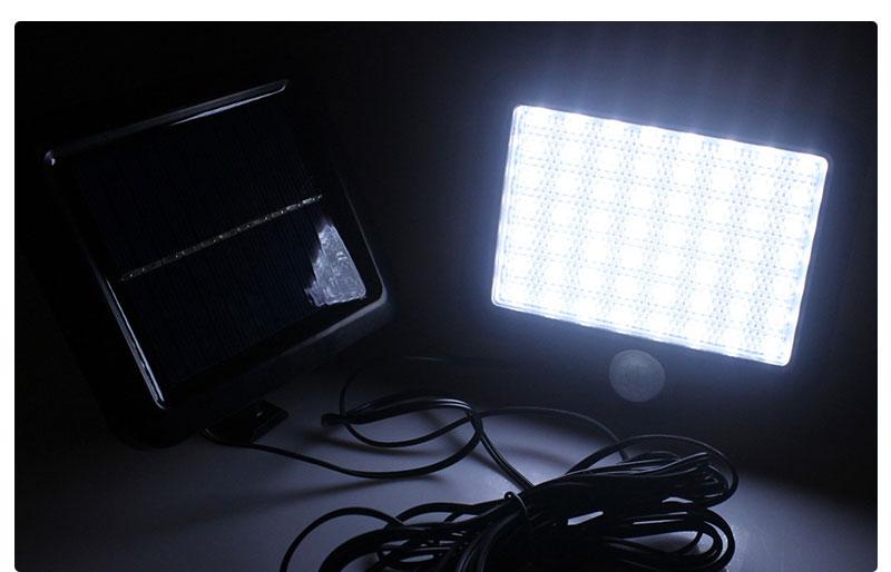 Outdoor Solar LED Lamp with PIR Motion Sensor
