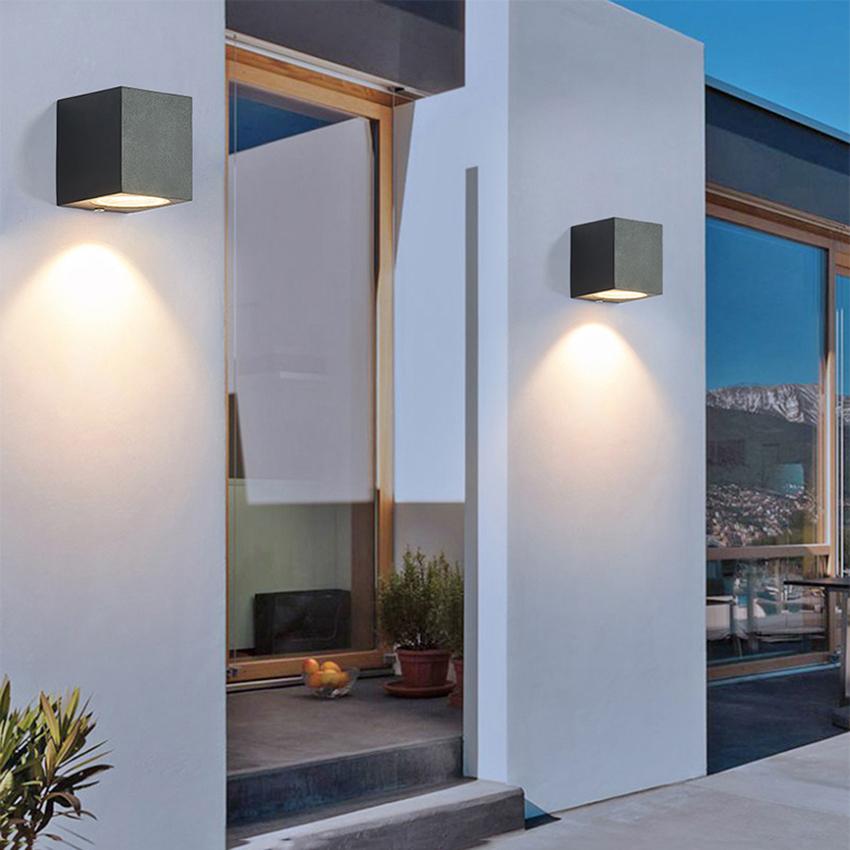 Outdoor Waterproof Square Aluminum Wall Lamp