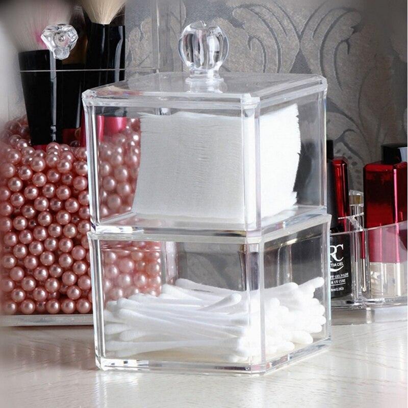 Acrylic Two-layer Makeup Organizer