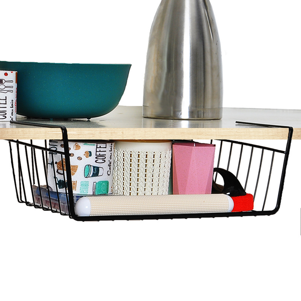Iron Desk Hanging Storage Shelf
