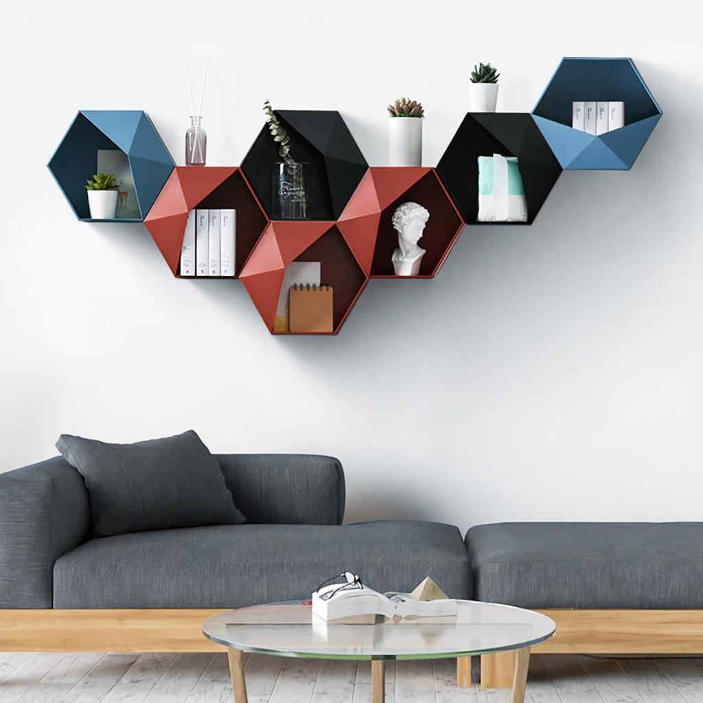 Wall Hanging Hexagon Shelf