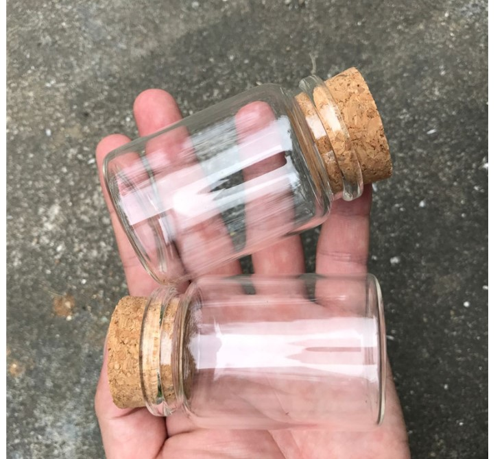 80 ml Glass Spice Jar with Cork Lid