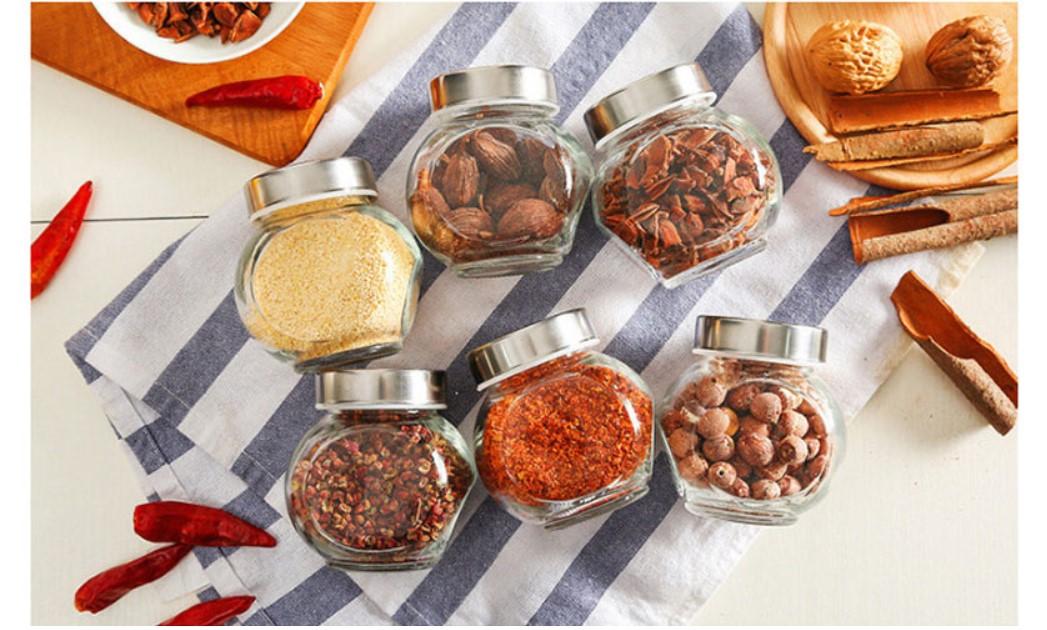 Irregular Shape Glass Spice Jar