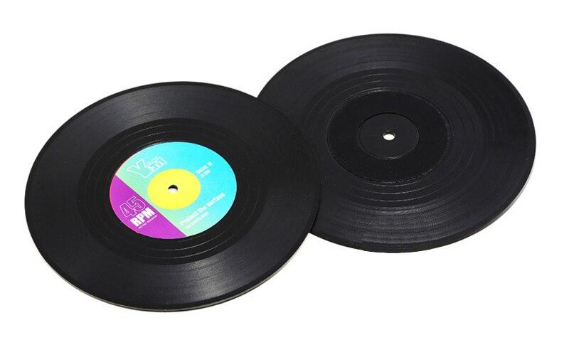 Vinyl Record Themed Mug Pad Set
