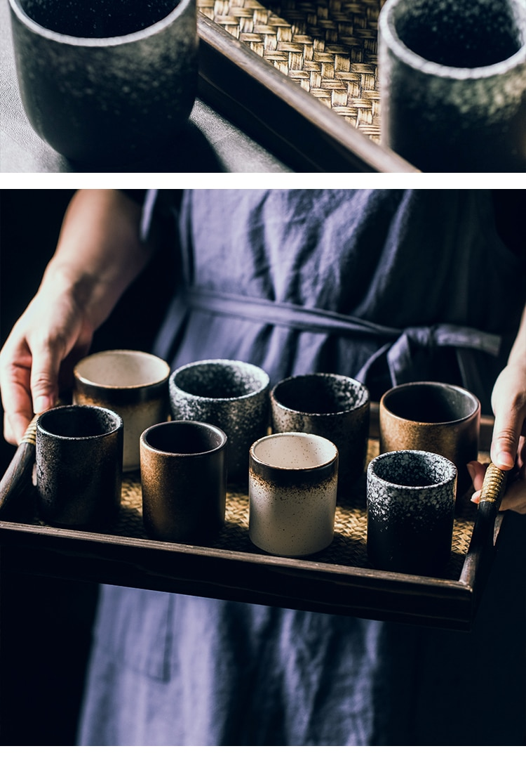 Japanese Style Hand-Painted Ceramic Cup