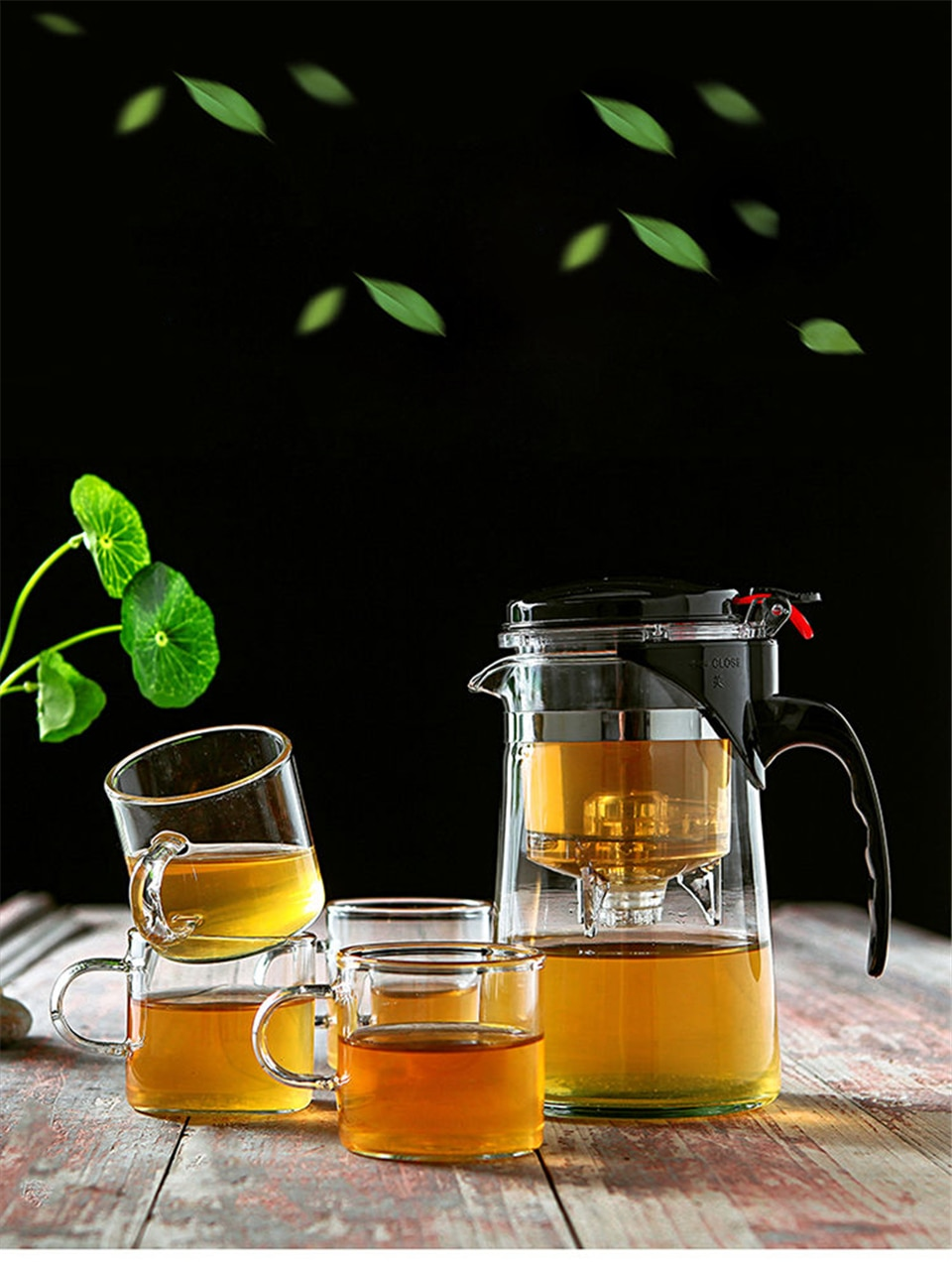 Resistant Glass Tea Tableware