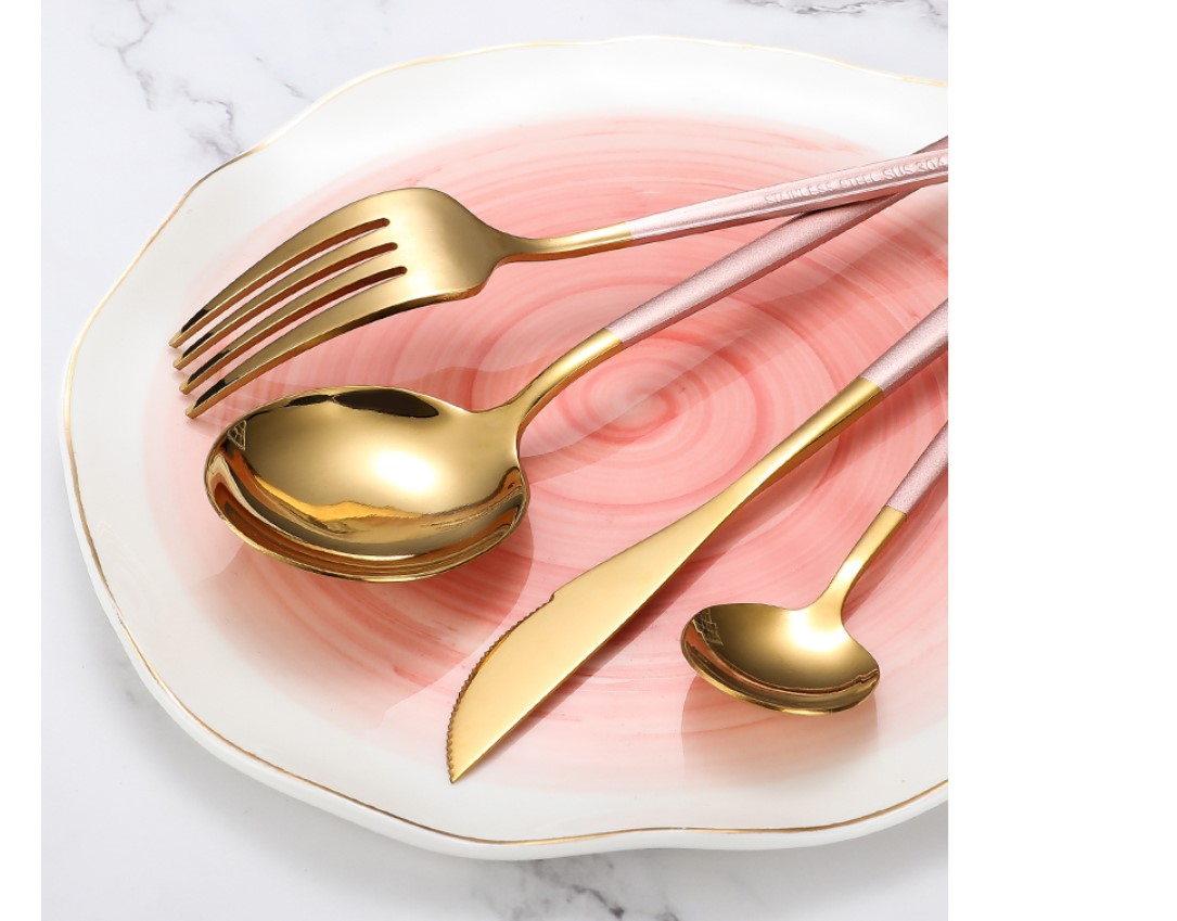 Two Tone Design 4 Pcs Cutlery Set