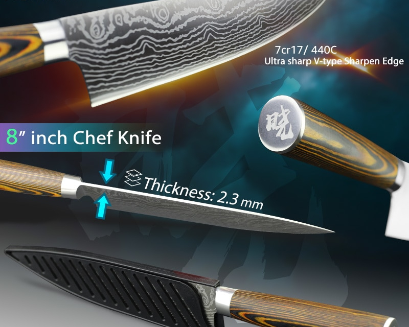 Carbon Stainless Steel Kitchen Knife