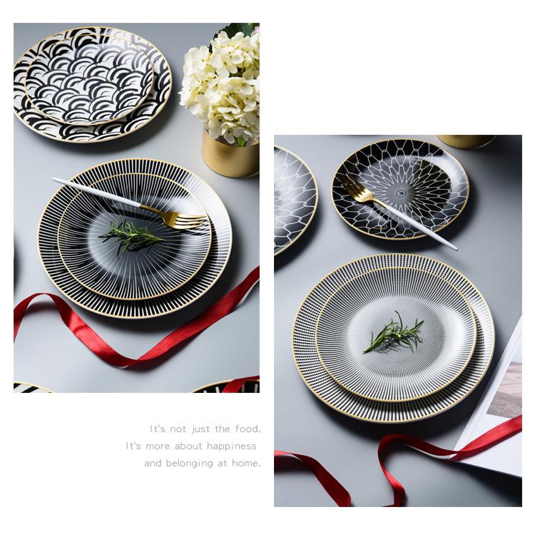 Stylish Geometry Plates 6 pcs Set